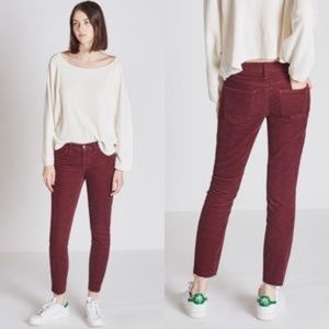 NWT Current/Elliot Pinot Corduroy Raw Ankle Skinny